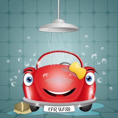 Funny car at car wash photo
