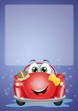 car wash background photo