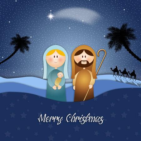 Nativity scene for Christmas photo