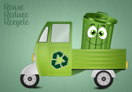 garbage collection: Van for the collection of garbage