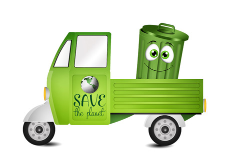 recyclable: Van for the collection of garbage