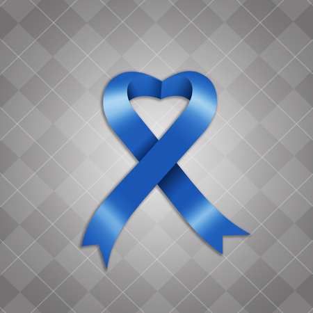 Awareness blue ribbon photo