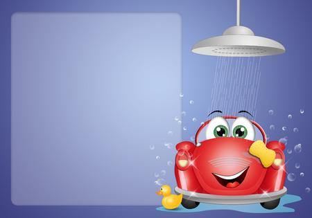 Car washing background Stock Photo