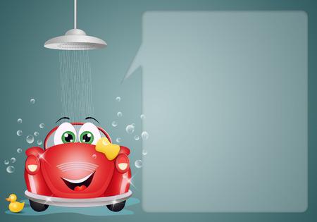 bubble car: Car washing background Stock Photo