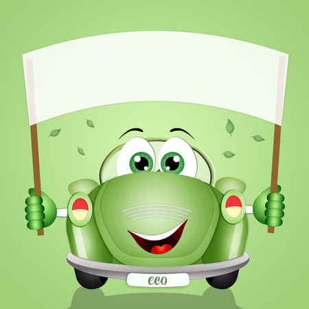 eco-car for the respect of the planet Stock Photo