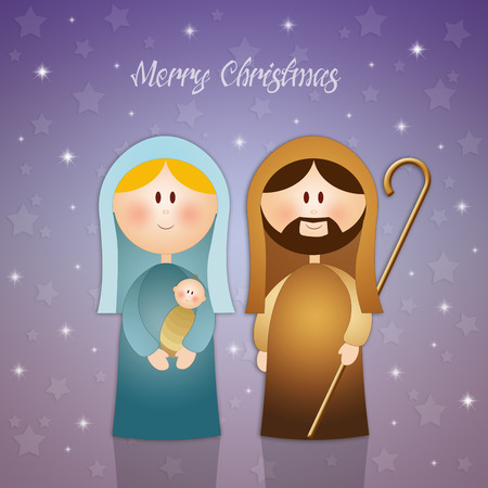 Virgin Mary and Joseph at Christmas photo