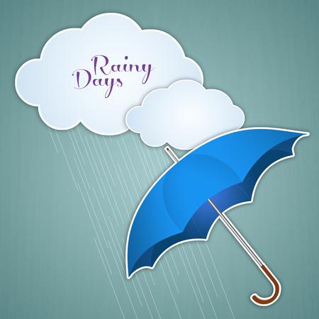 natural phenomenon: Clouds and umbrella for rainy days Stock Photo
