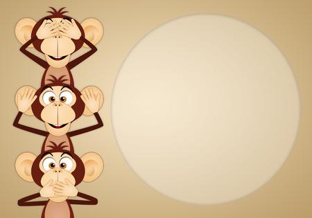 funny animals: The three wise monkeys