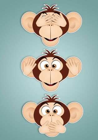 see no evil: The three wise monkeys