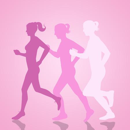 donne in corsa per il cancro al seno
