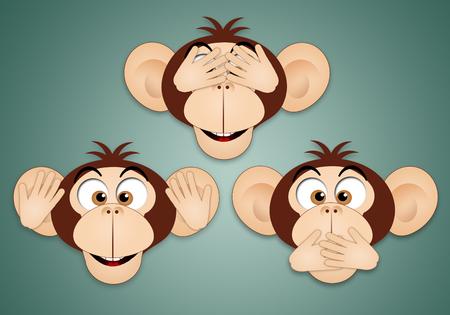 hear: The three wise monkeys