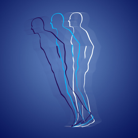 telepathy: Astral body projection Stock Photo