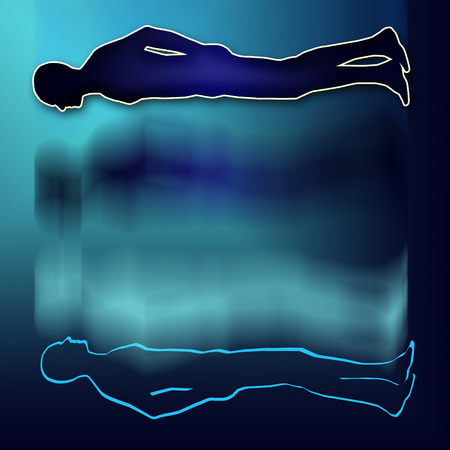 astral: Astral body projection Stock Photo