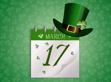 Calendar for St. Patricks Day Stock Photo
