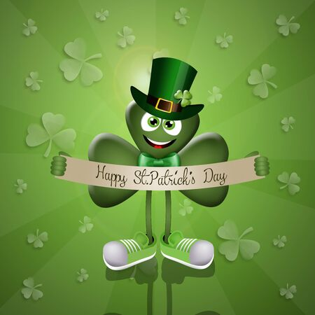 irish culture: Funny clover for San Patricks Day Stock Photo