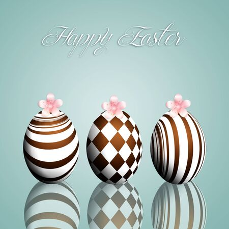chocolate eggs: Chocolate eggs for Happy Easter