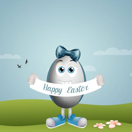 funny easter: Funny Easter egg Stock Photo