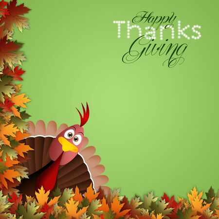 Funny turkey for Thanksgiving Stock Photo