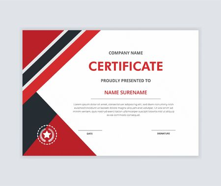 Creative certificate of appreciation award template with elegant shape. Diploma vector