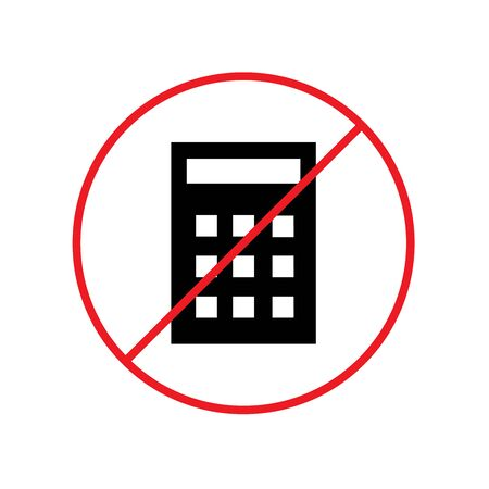 No Calculator Icon Design Vector Glyph Style Template illustration Ilustración de vector