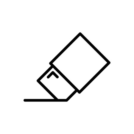 Eraser Icon Design Template Illustration Outline Style