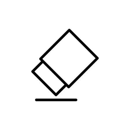 Eraser Icon Design Template Illustration Outline Style