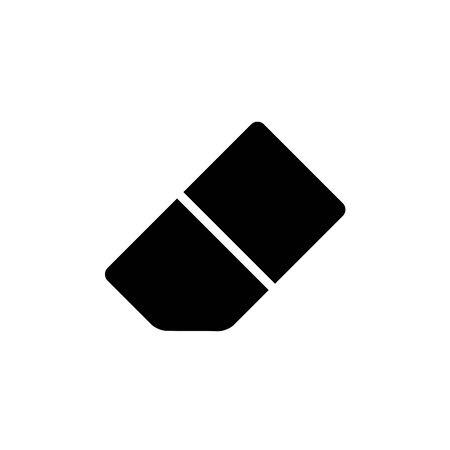 Eraser Icon Design Template Glyph Style Illustration