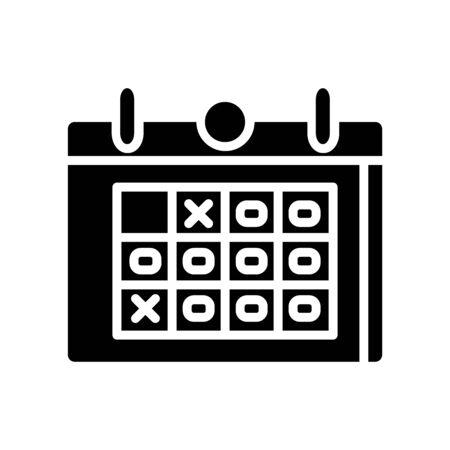 Calendar Icon  Design Vector Template And Illustration Glyph Style Иллюстрация