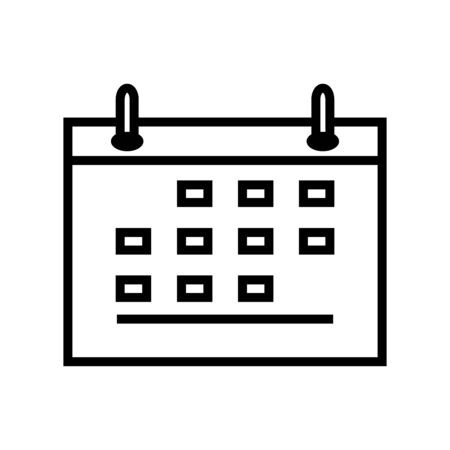 Calendar Icon  Design Vector Template And Illustration Line Style