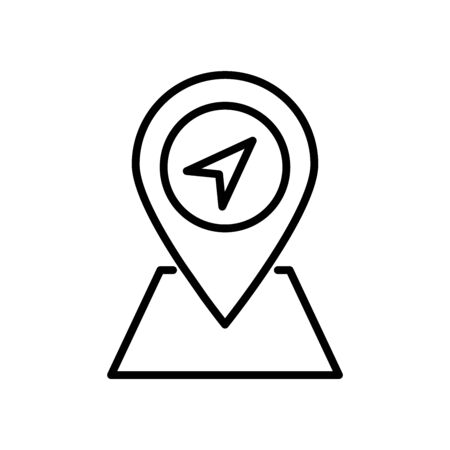 Pin Icon Vector Design Template And Illustration Glyph And Outline