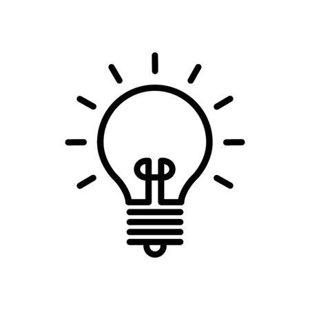 Glühbirne Icon Design Logo Vektor Vorlage und Illustration Zeichen und Symbol