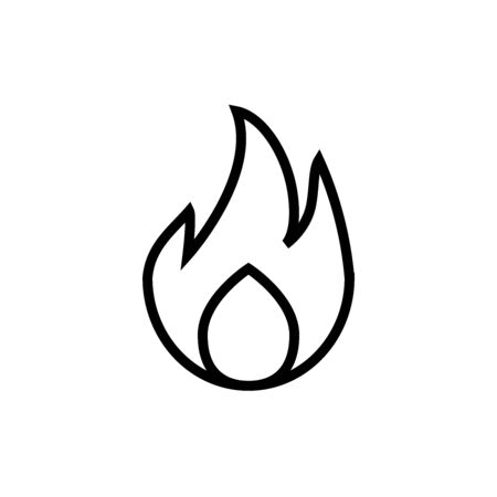 Fire Icon Design Vector Template And Illustration