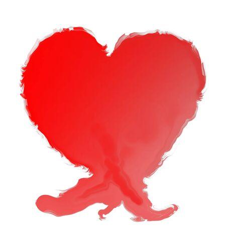 Melting & evaporating heart