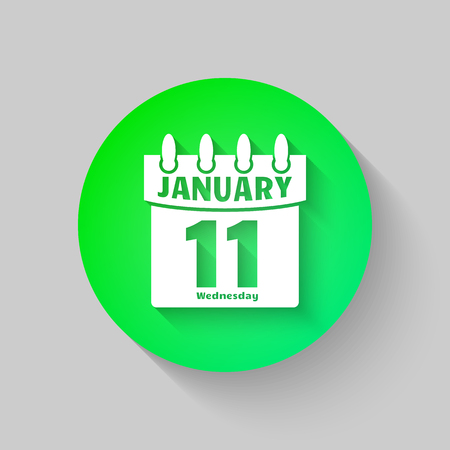 Calendar Icon Vector flat design style. Isolated on a gray background. Symbol Calendar for your website design,  application user interface. Illustration