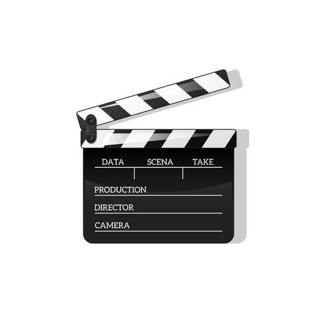 Zwart klap open zwart objectelement voor film maken