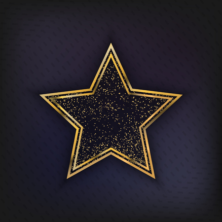 Walk of Fame Star isolated Illustration. actor award for achievement, award symbol star design cover for your projects.