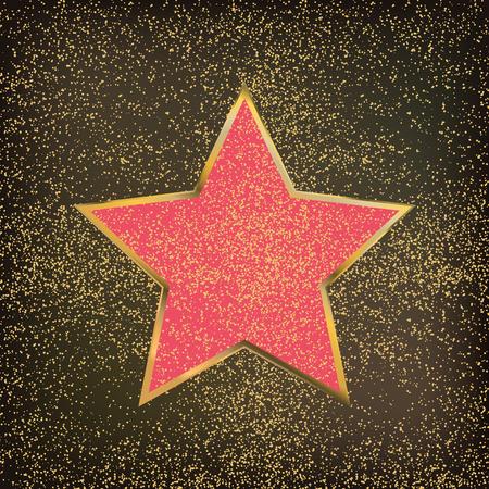ウォーク ・ オブ フェームの星は分離ベクトル図です。ハリウッド俳優賞  イラスト・ベクター素材