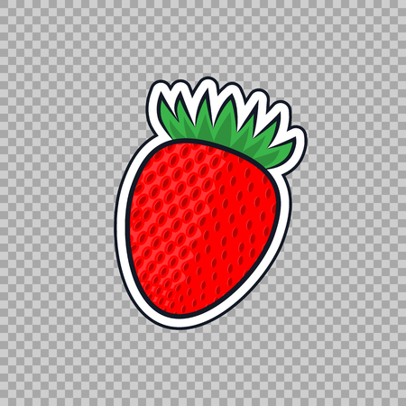 Strawberry icon isolated on transparent background. Ilustrace