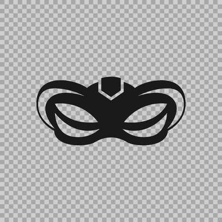 Venetian icon symbol carnival mask isolated on a transparent background. Banco de Imagens - 84949625