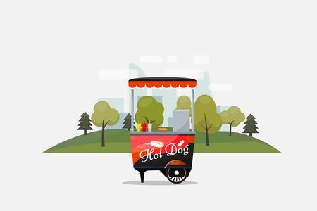 Kiosque sur roues isolé sur fond transparent. Banque d'images - 84949628