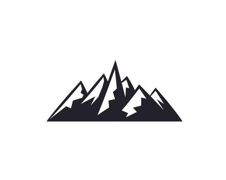 Mountain peaks, ski logo design elements icon collection isolated on white background. Banco de Imagens - 84949629