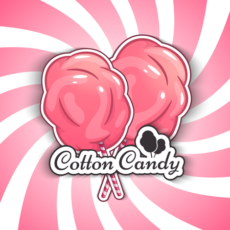 Cotton Candy Isolated Logo Emblem for Your Products.