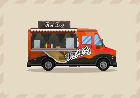 Hot dog cart on wheels