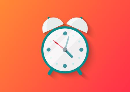 フラットスタイルのデザインで分離時計アイコンのアイコンのイラスト。クロックは、モバイルアプリケーション用のシルエット要素です。ベクタ  イラスト・ベクター素材
