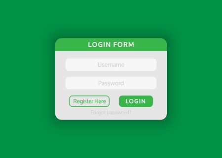 Web site login form. Vector illustration for your projects.
