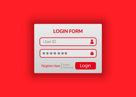 web browser: Web site login form. Vector illustration for your projects.