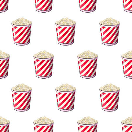 Popcorn is isolated in a strip wrapper box for your produce, an appetizer bucket when you watch movies.