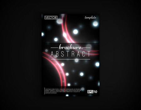 Brochure cover design postcard isolated. 2d background motion objects futuristic.