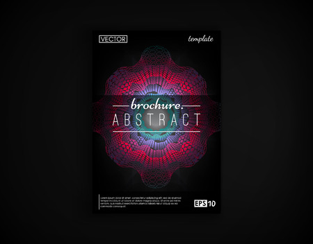 Brochure cover design postcard isolated. 2d futuristic background. Poster, flyer, poster, business card and other your projects.