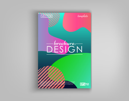Brochure Cover Design Cards Isolated. Dynamic fashion flat design. Poster, banner, flyer, poster, business card and other your projects.